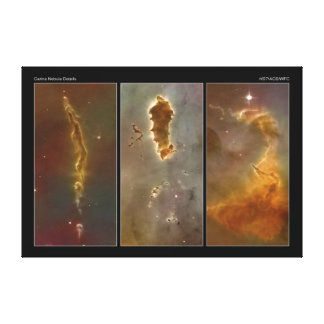Bok Globules in the Carina Nebula from the Hubble Canvas Print