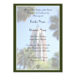 Bok Tower Wedding, personalized 5x7 Paper Invitation Card