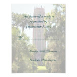 """Bok Tower Wedding RSVP Personalized 4.25"""" X 5.5"""" Invitation Card"""
