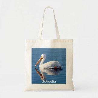 Bokeelia White Pelican Tote Bag