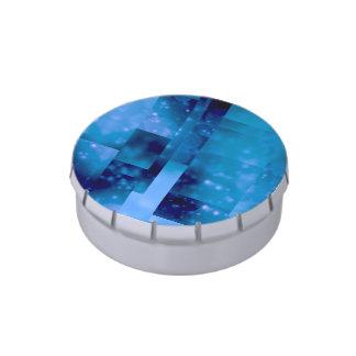 Bokeh 01, azul frascos de dulces