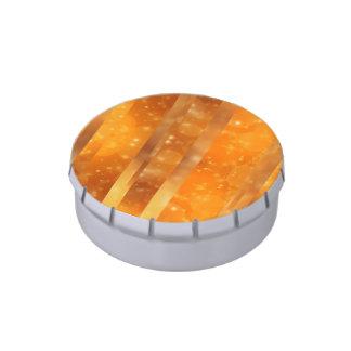 Bokeh 02 de oro latas de caramelos