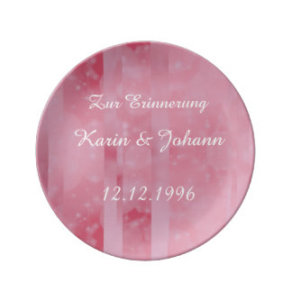 Bokeh 02 soft pink porcelain plates