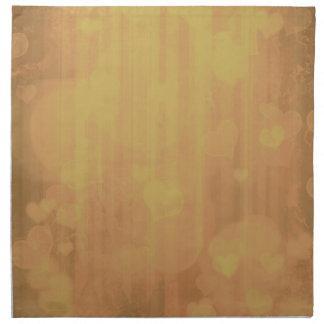 Bokeh 04 corazones i de oro servilleta de papel