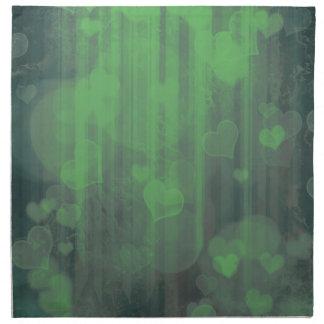 Bokeh 04 corazones pone verde i servilleta