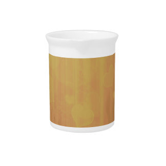 Bokeh 04 hearts golden (I) Beverage Pitchers