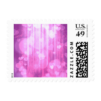 bokeh 04 hearts,pink (I) Stamps