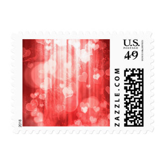bokeh 04 hearts, red (I) Stamp