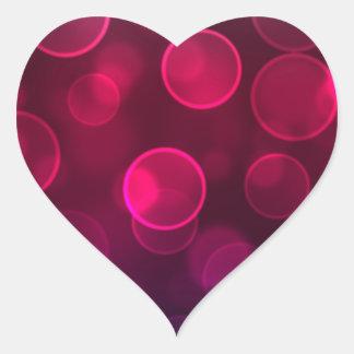 Bokeh Art Heart Stickers