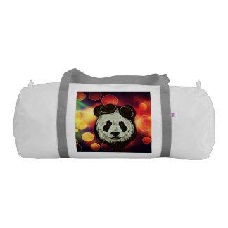 Bokeh Art with Panda Duffle Bag