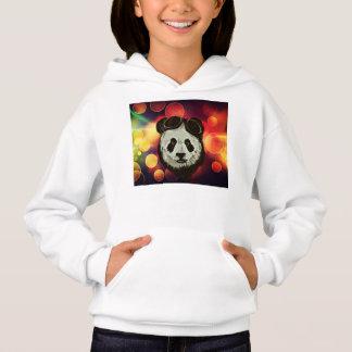 Bokeh Art with Panda Hoodie