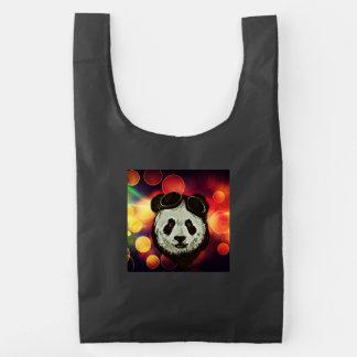 Bokeh Art with Panda Reusable Bag