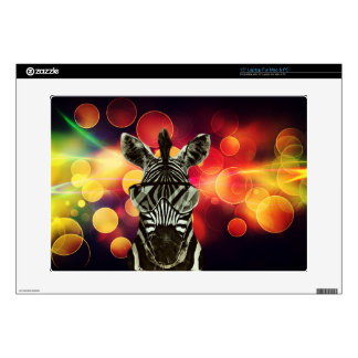 Bokeh Art with Zebra Style Decals For Laptops