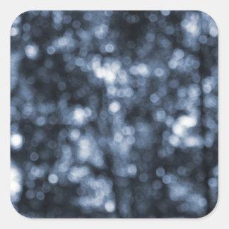 Bokeh azul calcomania cuadradas