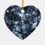 Bokeh azul ornamento para reyes magos