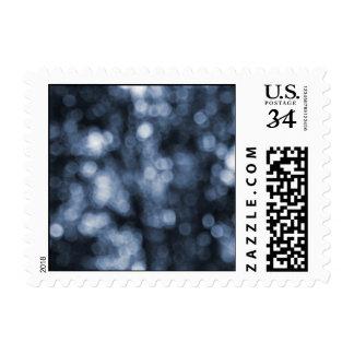 Bokeh azul - pequeño sello
