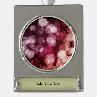 Bokeh Background Silver Plated Banner Ornament
