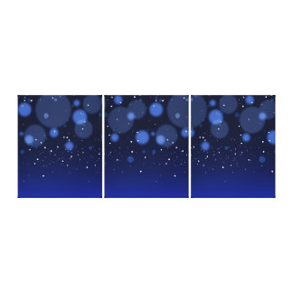 Bokeh Blue Abstract Starry Sky Canvas Print