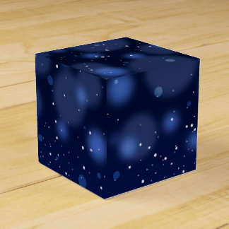 Bokeh Blue Abstract Starry Sky Favor Box