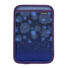 Bokeh Blue Abstract Starry Sky Sleeve For iPad Mini at Zazzle