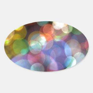 Bokeh Blurred Background Lights Oval Sticker