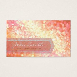 Bokeh Bold Gold Business Card