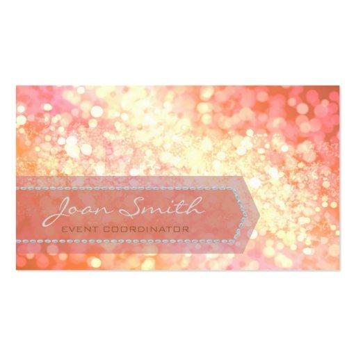 Bokeh Bold Gold Business Card Template