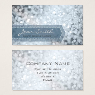 Bokeh Bold Slate Blue ID317 Business Card
