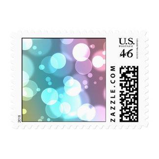 Bokeh Bubbles Postage Stamps