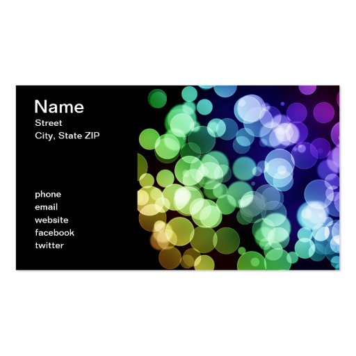Bokeh Business Card Template