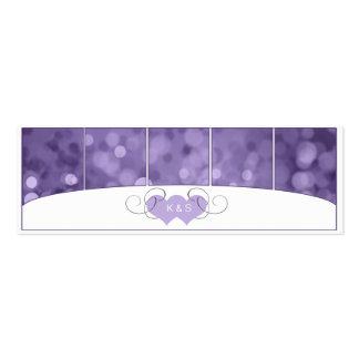 Bokeh chispeante que casa SBWA púrpura Tarjetas De Visita Mini