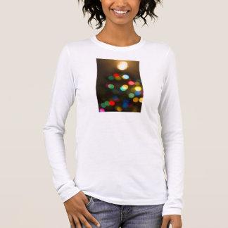 Bokeh Christmas Tree Lights Long Sleeve T-Shirt