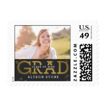 Bokeh Collage EDITABLE COLOR Graduation Stamp