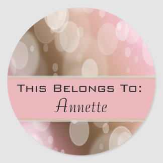 Bokeh Customizable Name Template Classic Round Sticker