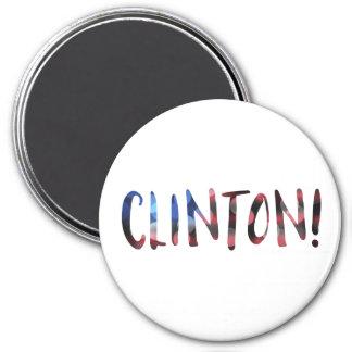 Bokeh de Hillary Clinton Imán Redondo 7 Cm