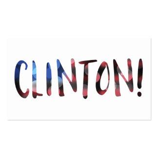 Bokeh de Hillary Clinton Tarjetas De Visita