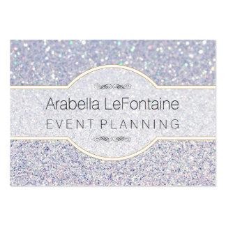 Bokeh Elegant Events Business Card Glitter