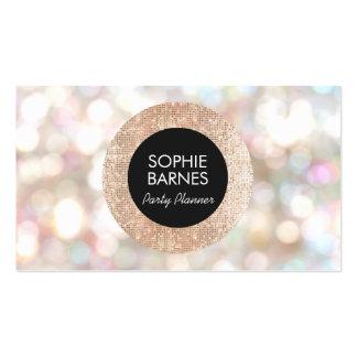 Bokeh elegante y planificador de eventos color de tarjetas de visita