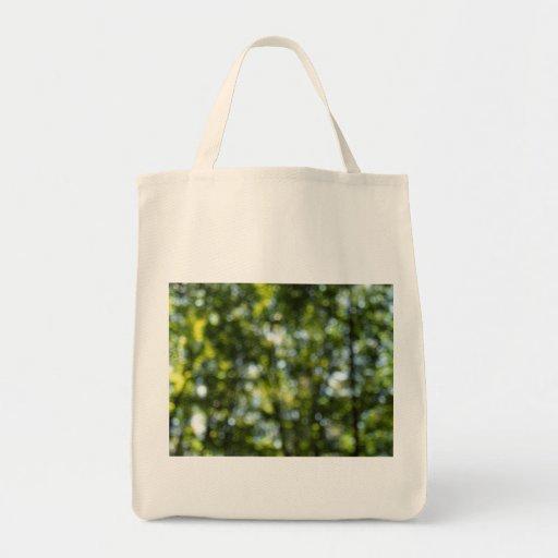 Bokeh en primavera bolsa tela para la compra
