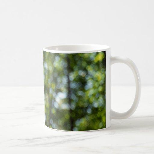 Bokeh en primavera tazas de café