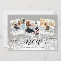 Bokeh Flare | New Year Photo Collage Card