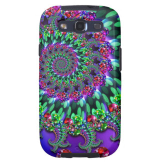 Bokeh Fractal Purple Terquoise Samsung Galaxy SIII Cover