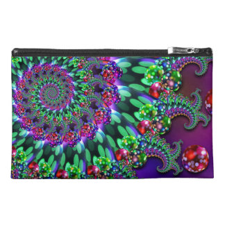 Bokeh Fractal Purple Turquoise Travel Accessories Bag