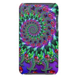 Bokeh Fractal Purple Turquoise Barely There iPod Cases