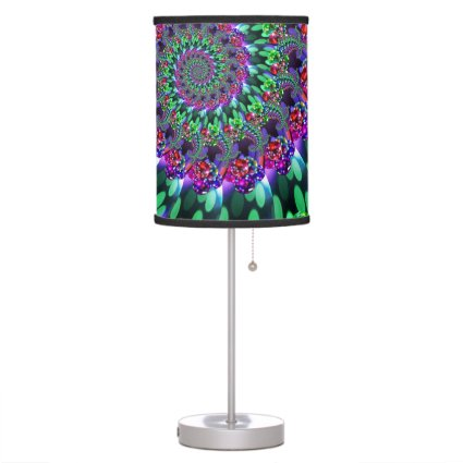 Bokeh Fractal Purple Turquoise Desk Lamp