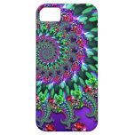 Bokeh Fractal Purple Turquoise iPhone 5 Covers