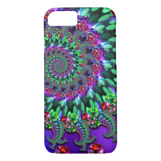 Bokeh Fractal Purple Turquoise iPhone 7 Case