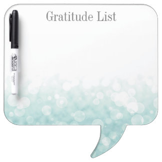 Bokeh Gratitude List Dry Erase Board