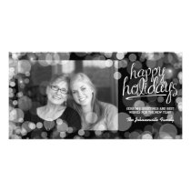 Bokeh Happy Holidays Photo Card: Modern Style Card