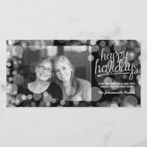 Bokeh Happy Holidays Photo Card: Modern Style Holiday Card